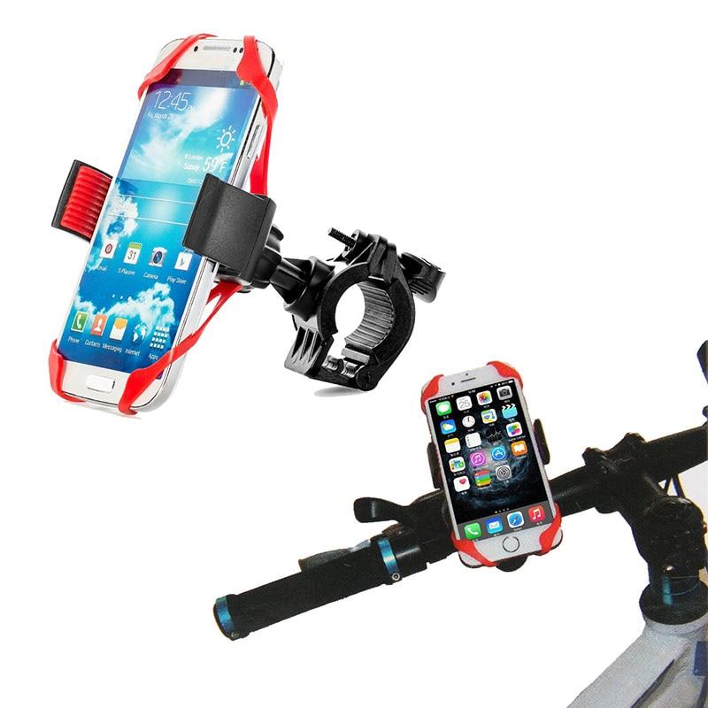 Soporte Universal para teléfono de bicicleta de 360 grados botón ajustable antichoque soporte para teléfono horquilla para soporte de teléfono de bicicleta