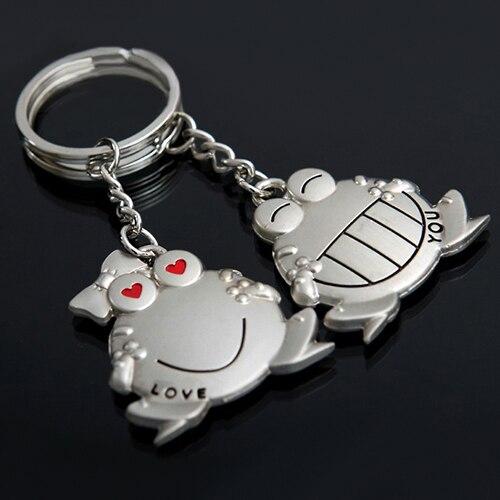 1 par de llavero de llave de rana de Boca Grande de Love You, llavero de regalo de corazón 6L5J