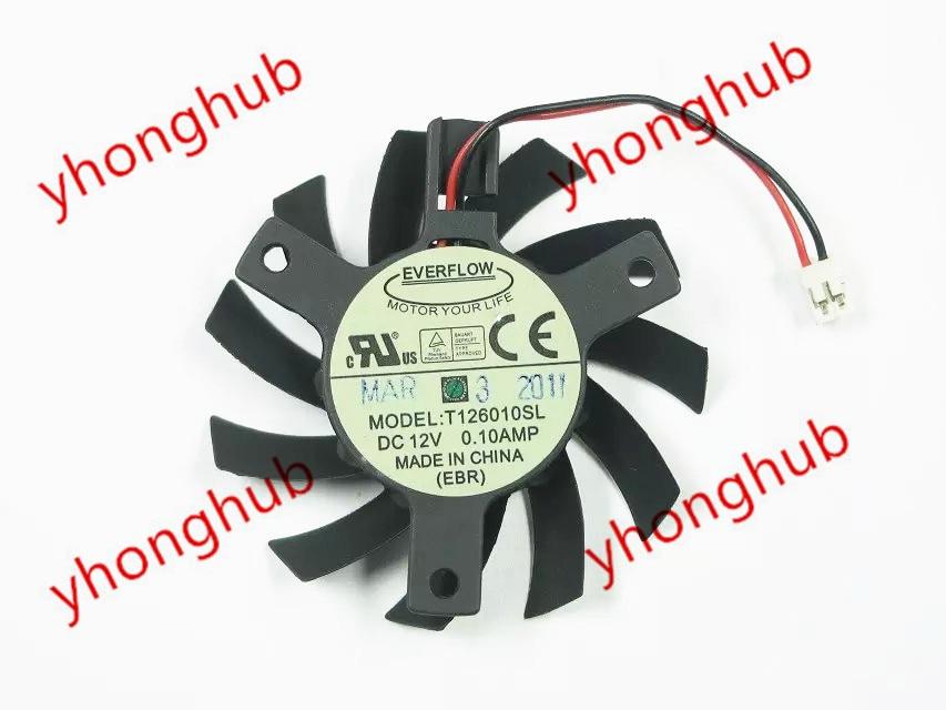 Everflow T126010SL DC 12V 0.10A 2-سلك 55X55mm الخادم مروحة التبريد