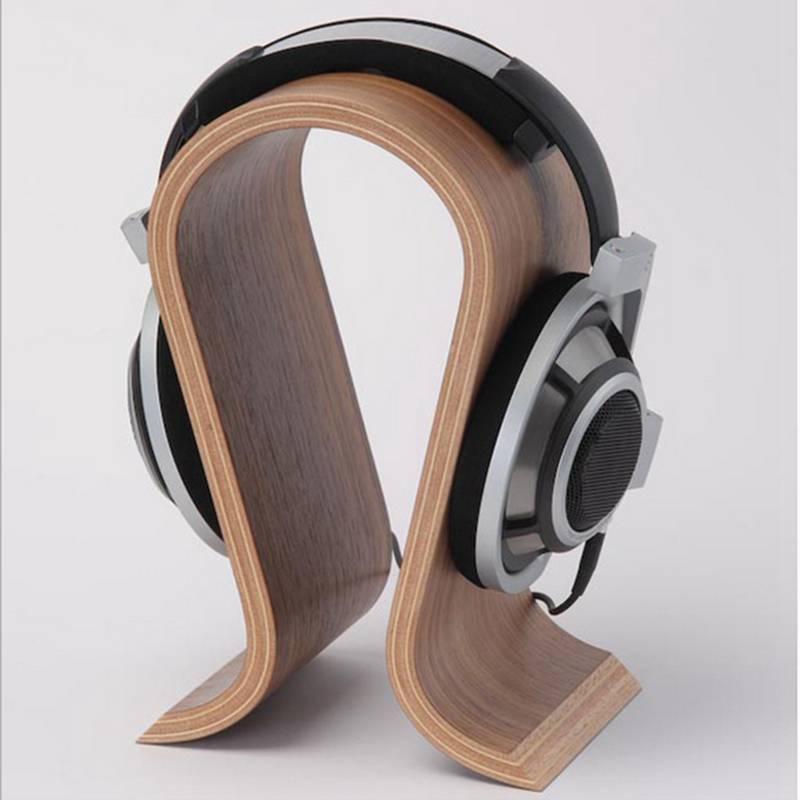 VODOOL деревянная u-образная Подставка для наушников, классический грецкий орех, держатель для наушников, гарнитура, вешалка, кронштейн для дома, офиса, студии, для использования в спальне