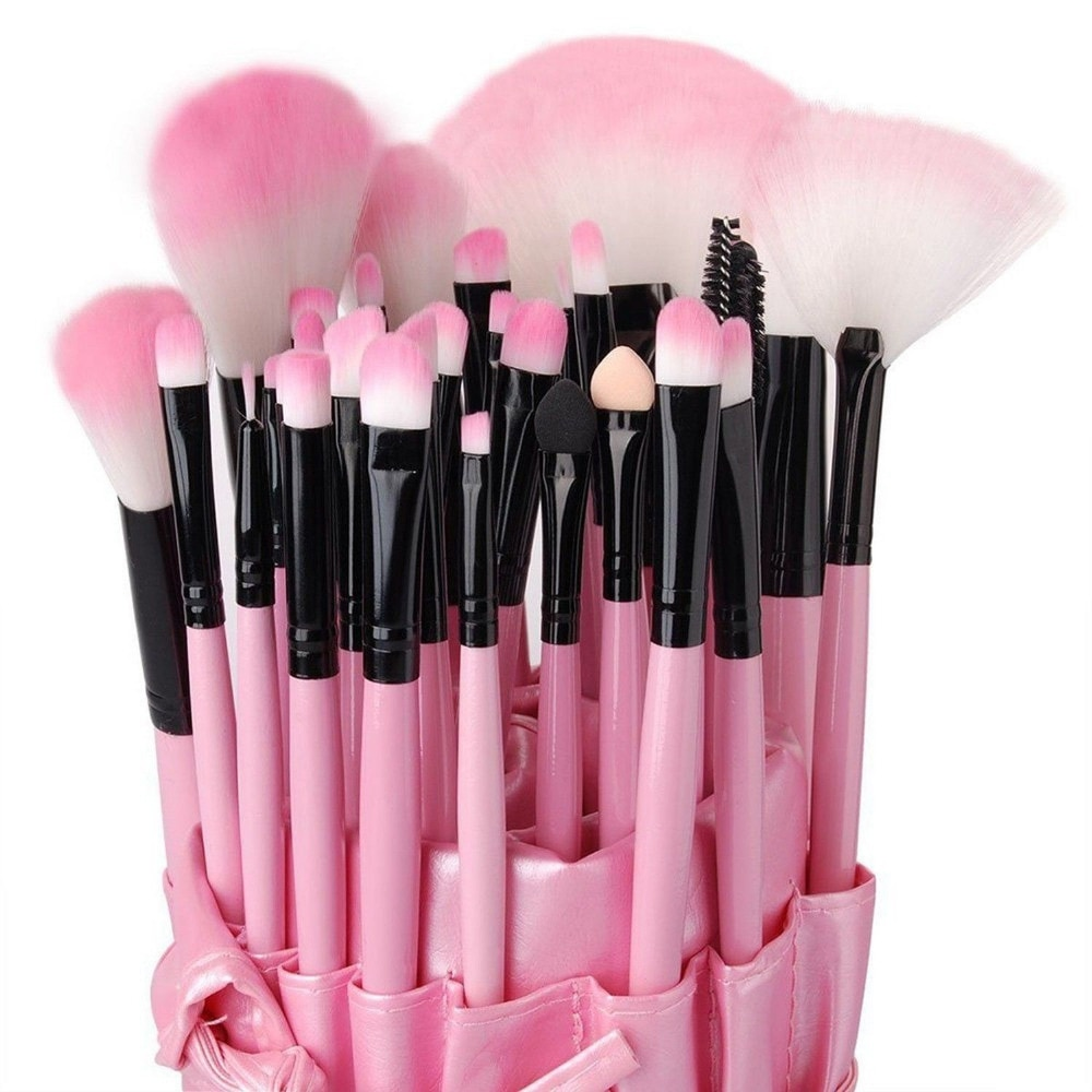 Juego de brochas de maquillaje VANDER Professional de 32 uds, brochas de maquillaje, base de maquillaje, lápiz labial para cejas, Pinceaux Kabuki Kit de herramientas + 1 bolsa de estuche