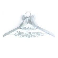 Custom Wedding Dress Hanger,Name & Date Dress Hanger,Personalized Wedding Hanger,Gift for Wedding,Bride/Bridesmaid Gift