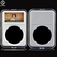 10pcs queen transparent pvc coin holder coin collecting box case for coins storage capsules protection boxes container 31 41mm