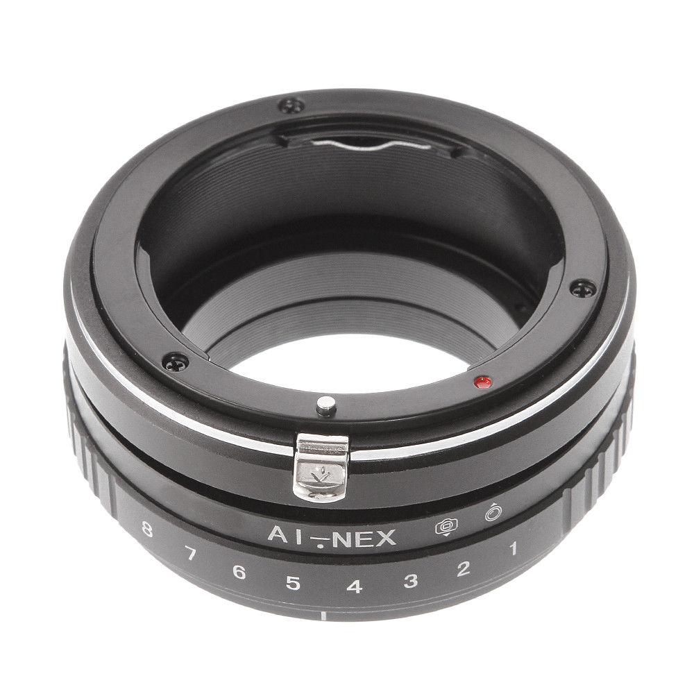 Cambio de inclinación anillo adaptador para Nikon AI lente Sony E montaje NEX-5N 5R 5T a7 a7R a7S NEX-VG10 Cámara