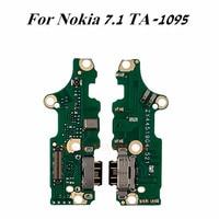 1Pcs המקורי USB טעינת מזח נמל + מיקרופון להגמיש כבלים עבור Nokia 7.1 TA-1095 1095 מטען plug אוזניות שקע החלפה