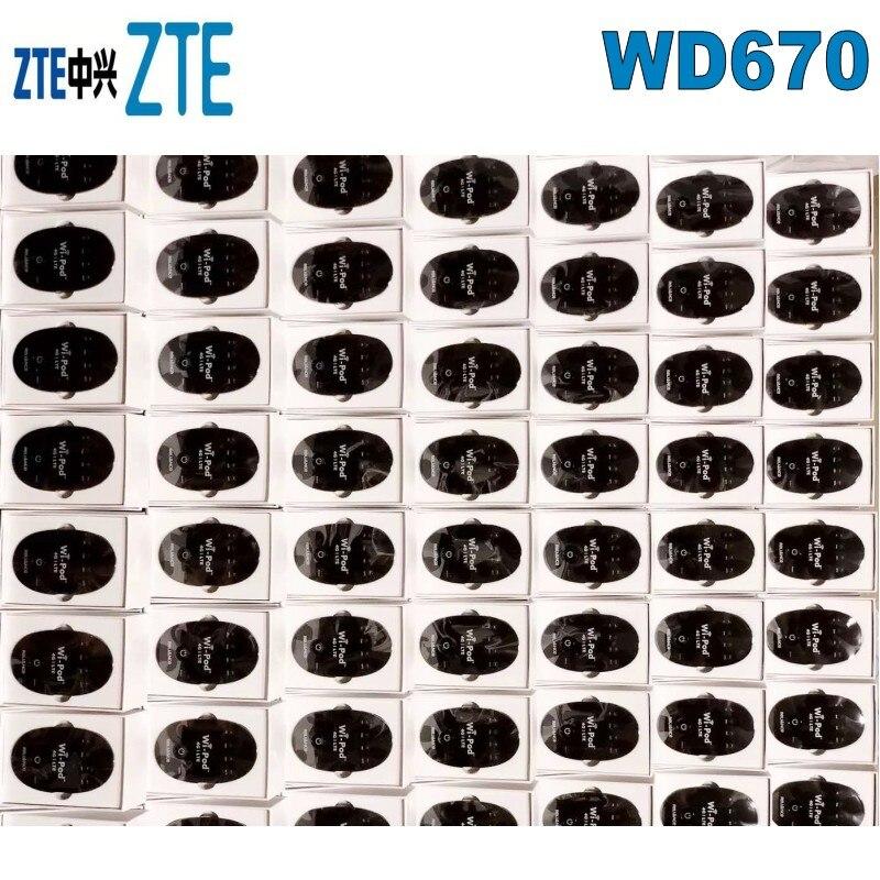 مجموعة من 10 قطعة Hotsale 150Mbps ZTE WD670 واي بود المحمولة 4G LTE جيب موزع إنترنت واي فاي