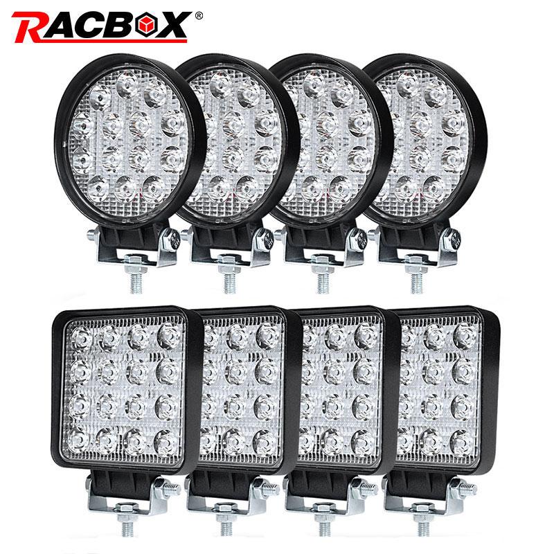 4 дюйма 42 48 Вт внедорожный светодиодный светильник Точечный светильник прожектор точечный луч приводная лампа для джипа УАЗ 4x4 автомобиль 4WD...