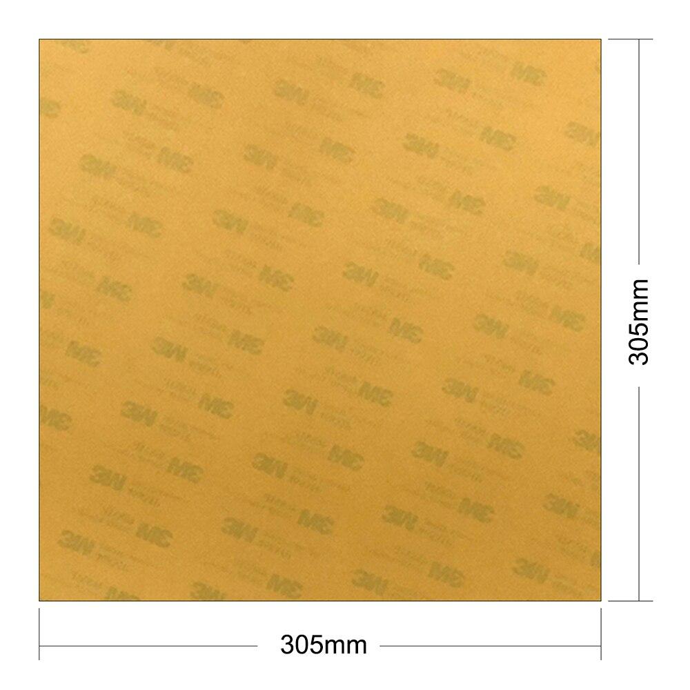 Plataforma energética da construção de ultem polyetherimide da construção da impressora 3d da folha de pei de 0.125mm com a fita 468mp para a cama quente da impressora 3d
