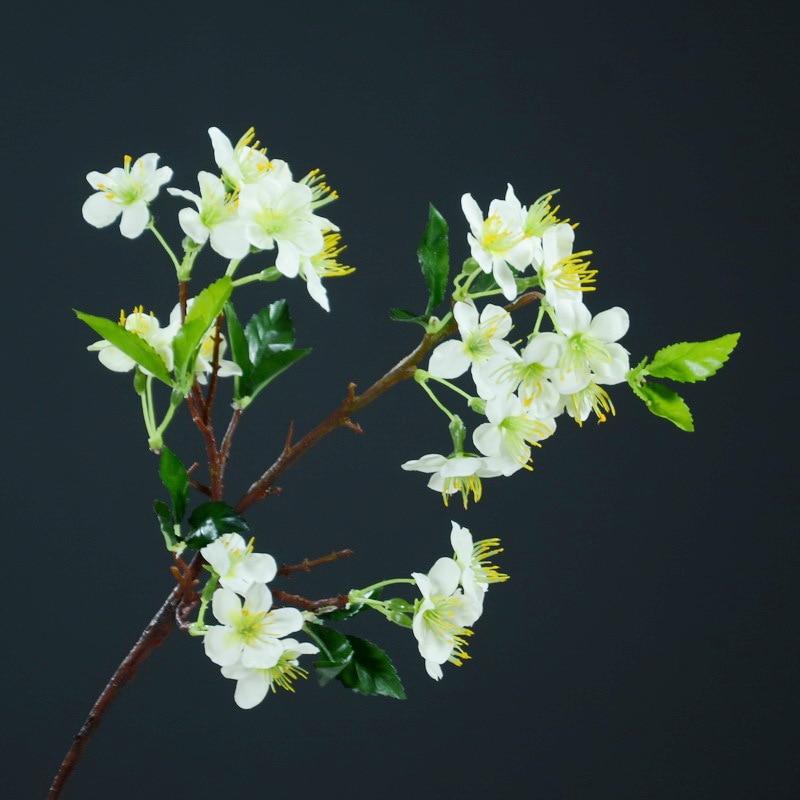 Falsa flor China salón Retro casa decoración flor pequeña rama de flor Rama de cerezo Artificial de las plantas