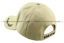 Gorra de béisbol deportiva gorra de hombre y sombrero bombardero Squad logo Tan