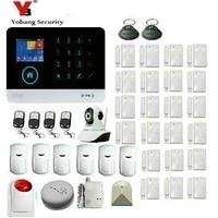 Yobang-systeme dalarme GSM sans fil   Controle IOS Android APP  securite de la maison  Kit de capteur de sirene  telecommande dinterphone