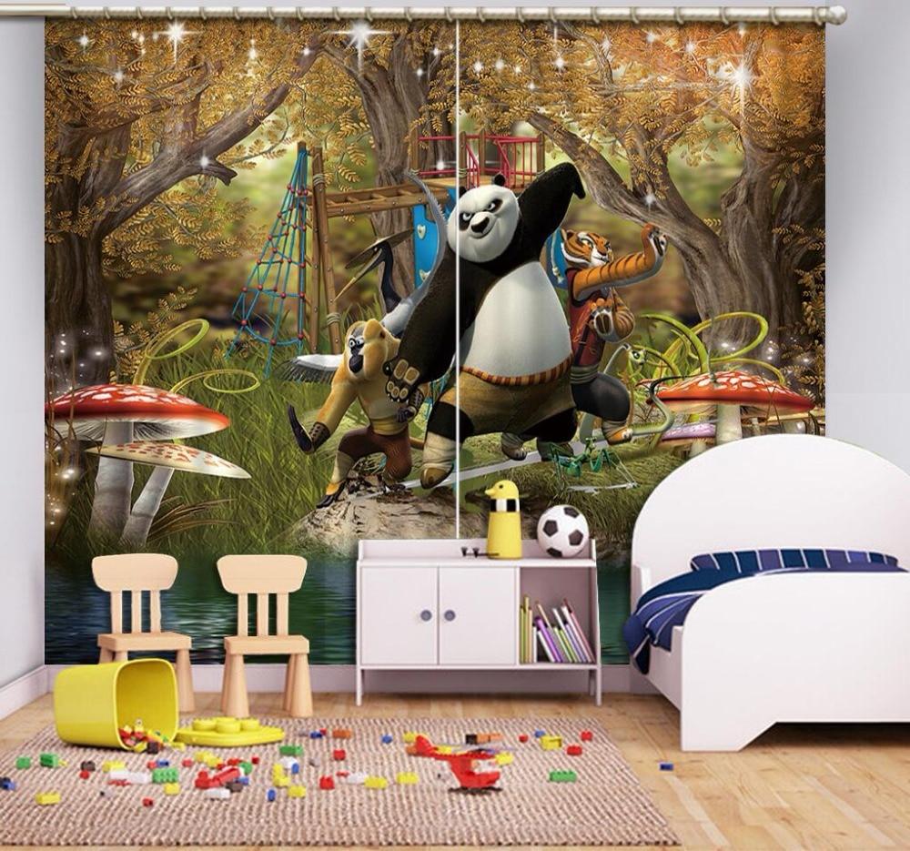2019 customize window curtain animal child living room bedroom kids room window home decor curtains