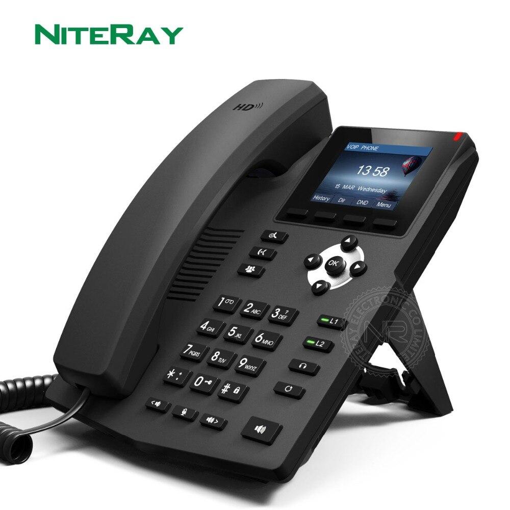 Фото Высококлассный 3 5 дюймовый настольный ЖК дисплей VoIP X3SP с интерфейсом гарнитуры
