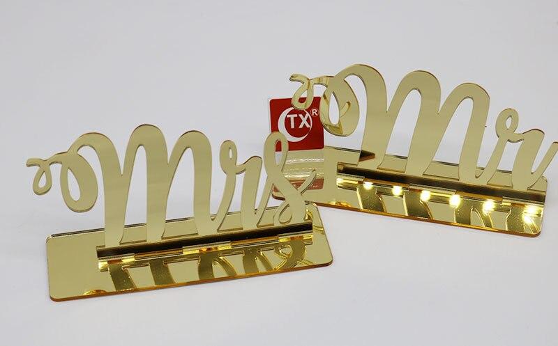 Panneau de mariage en acrylique doré miroir m. Et mme, pour décoration de mariage, pour décoration de Table pour la mariée et le marié, accessoires à Photo pour fiançailles