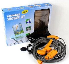 Juego de Ducha de camping para ducha de coche de 12 V, ducha para lavar el coche