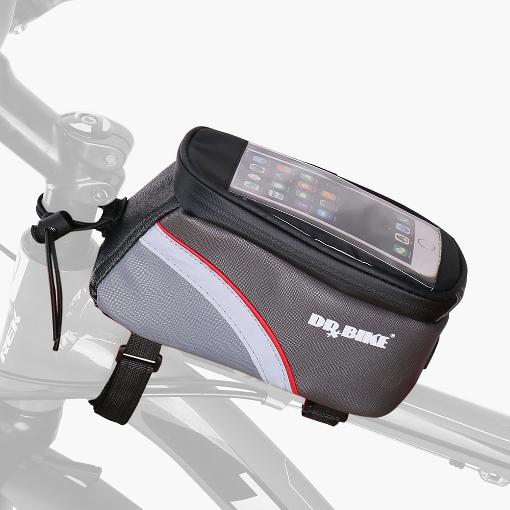 DRBIKE PU Material Waterproof Bicycle Bag Bike Frame Front Top Tube Bag Touch Screen for Moilbe Phone MTB Moutain Road Bike Bag