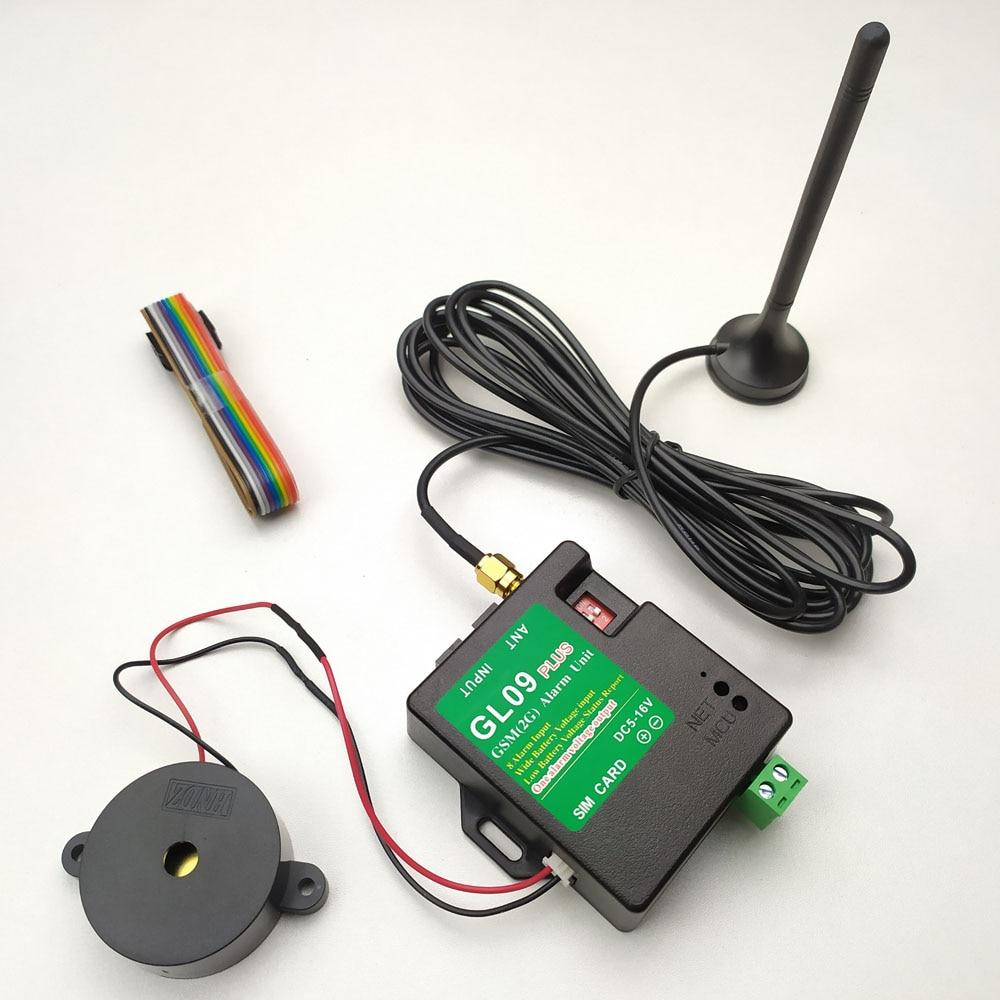 Nuevo sistema de alarma GSM GL09PLUS de 8 canales, mini alarmas SMS, sistema de seguridad adecuado para alerta portátil que funciona con batería