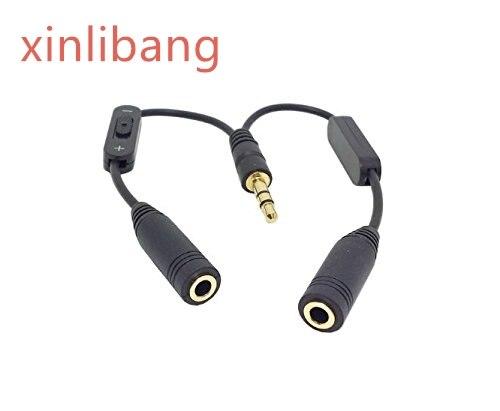 Cable divisor de auriculares estéreo macho a doble hembra, negro, 3,5mm, 3,5mm,...