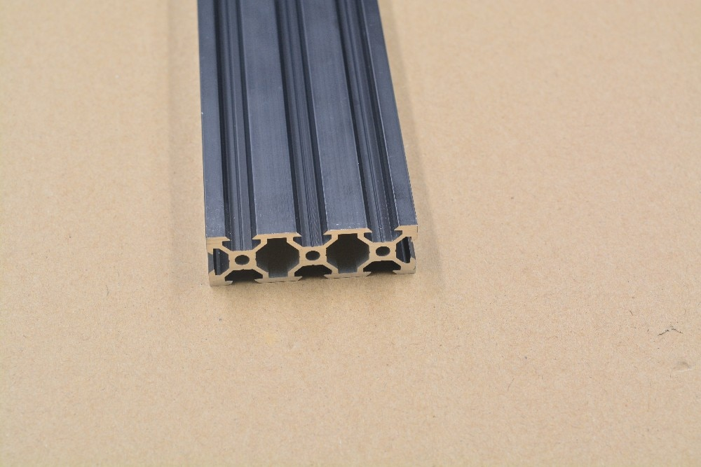 2060 v-slot de perfil de extrusão de alumínio padrão europeu 200 milímetros comprimento preto bancada 1 pcs