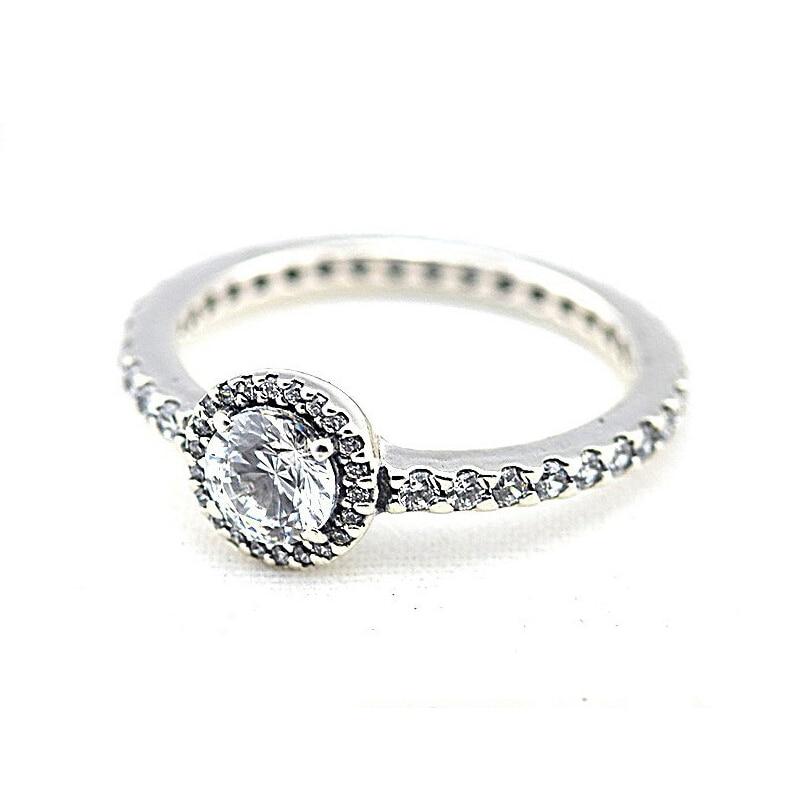 Anillos de plata de ley 925 auténtica para mujer, anillos de cristal...