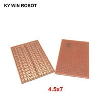 2 pcs/lot bricolage 4.5*7CM Prototype papier PCB universel expérience matrice Circuit imprimé 4.5x7CM