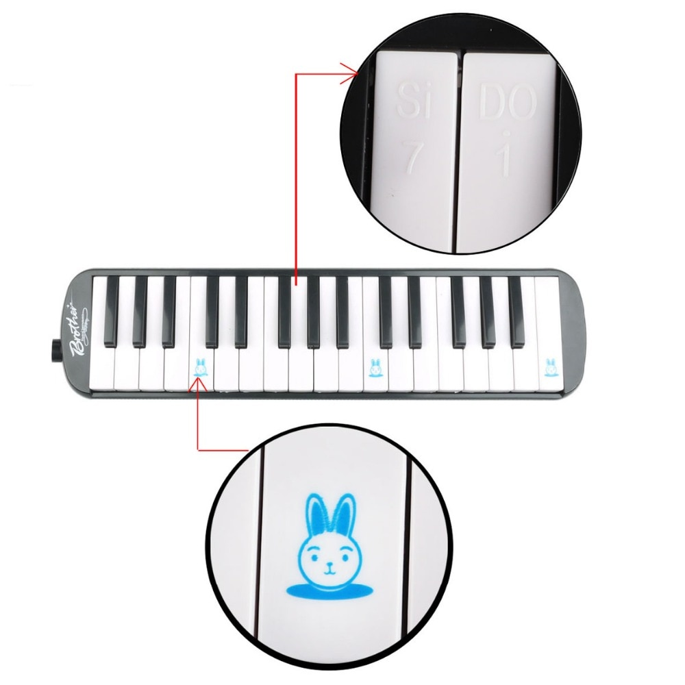 32 Key Melodica with Carrying Bag Musical Instrument for Music Lovers Beginners Gift Exquisite Workmanship Deluxe Carrying Case enlarge