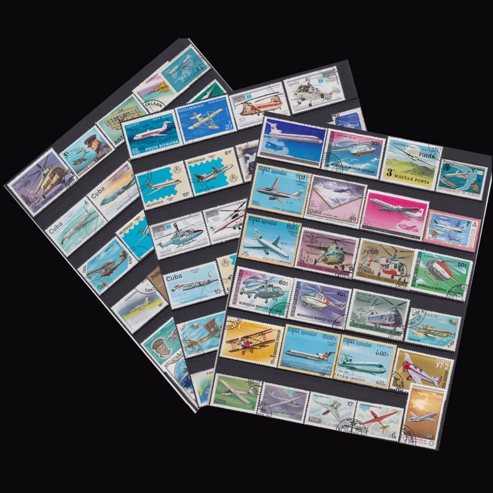 Topic Plane 250 PCS  All Different Used Postage Stamps With Post Mark For Collection