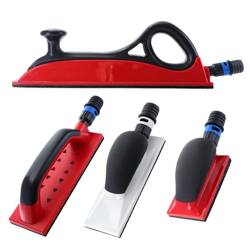 """Almohadilla de lijado 1pc, bloque de lijado manual con extracción de polvo 5 """"-16.5"""" soporte de esmerilado gancho bucle para paneles de yeso, herramientas de pulido al vacío"""