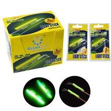 20 Pcs/Lot Fishing Glow Sticks Rod Fishing Rod Night Green Fluorescent Light Fishing Floats Glow Sticks Accessories