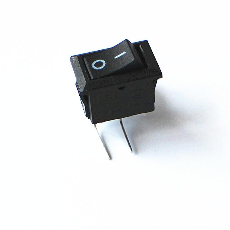 JOYING LIANG KCD11 Esquerda Dobra Agulha Preto Rocker Switch 15*10.5mm 3A 250 V Pequeno Interruptor 2 PCS