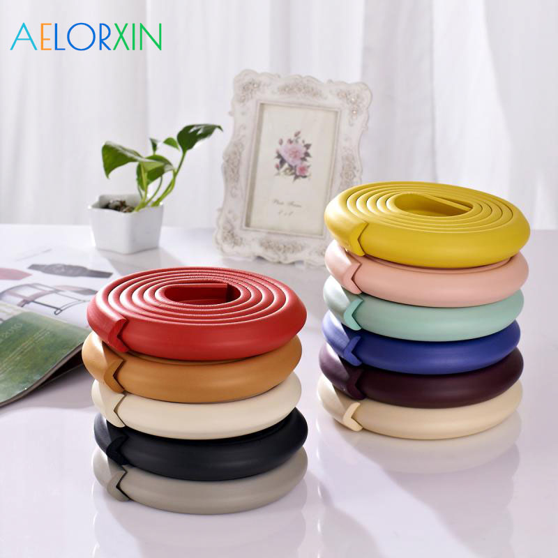 11.11 Children Protection 2M Length Table Guard Strip Baby Safety Products Glass Edge Furniture Corn
