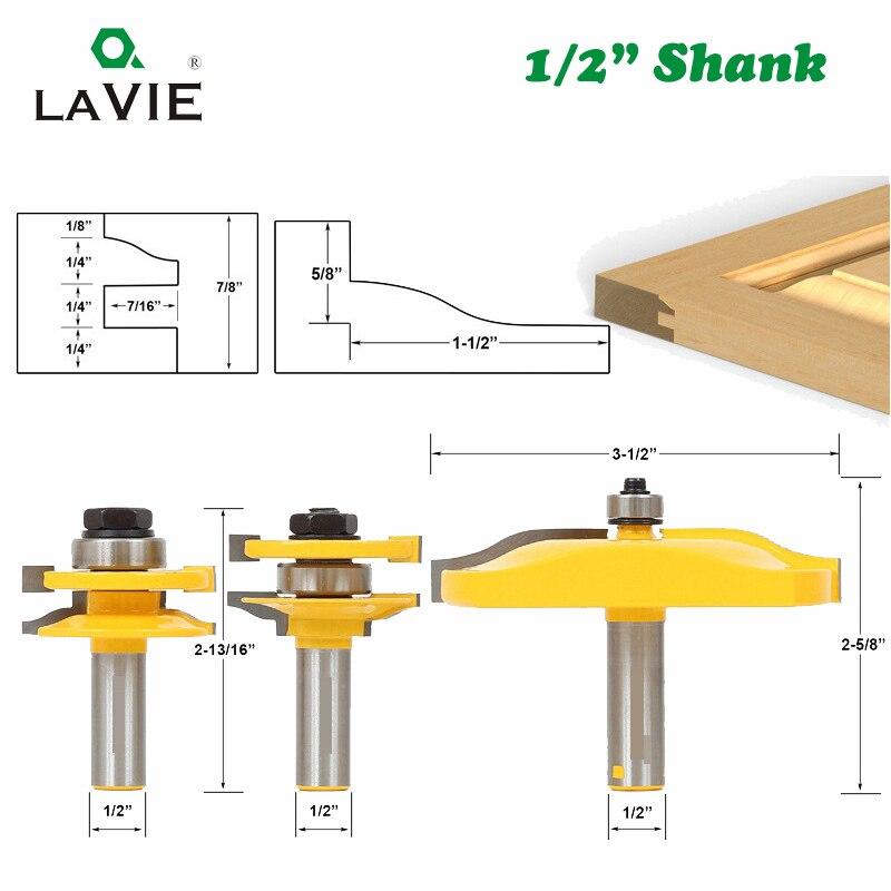 LAVIE-مجموعة مثقاب لأدوات القطع ، 1/2 عرقوب ، 12 مللي متر ، 3 قطعة/المجموعة تجميع ، 03016