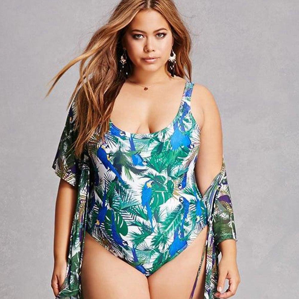 Traje de baño estampado de una pieza de talla grande de corte alto traje de baño para mujer monokini breve tallas grandes traje de baño de talla grande malliot traje de baño