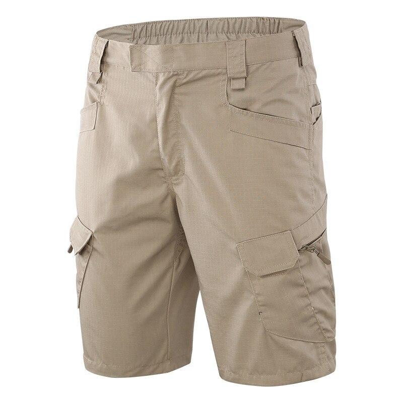 Verano de los hombres de deportes al aire libre Multi bolsillo tácticas pantalones cortos Hombre escalar montar de entrenamiento, de ejército camuflaje táctico pantalones cortos de carga