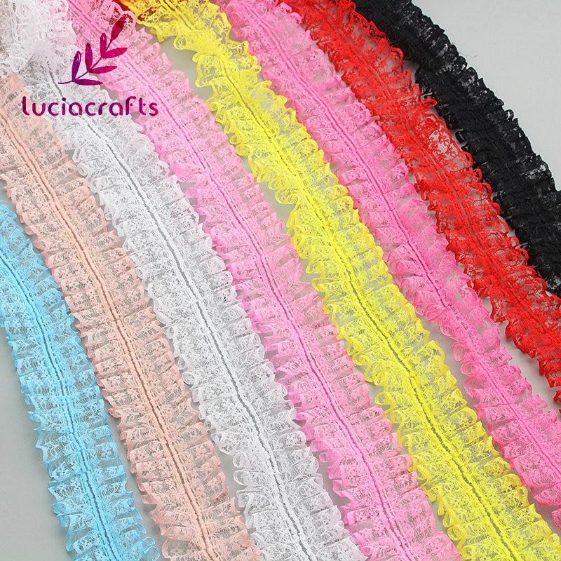 Lucia artesanía 2y/5y 40mm Multi-color de la cinta para ajuste, cordón hecha a mano Patchwork costura de ropa DIY sombreros accesorios de decoración U0601