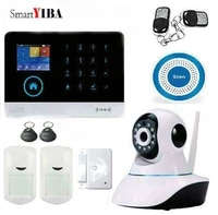 SmartYIBA systeme de camera de securite   Wifi sans fil GSM avec detection de mouvement  camera IP video HD  sirene sans fil
