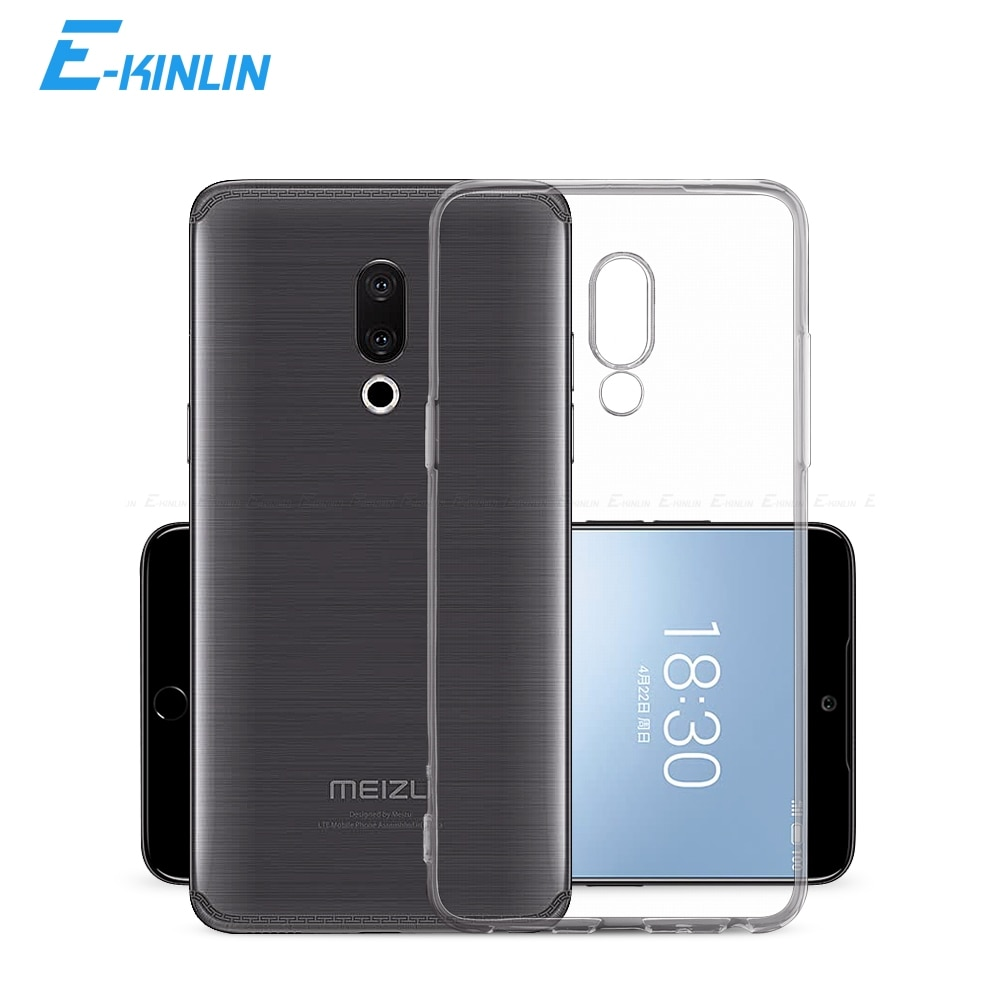 Claro cubierta trasera de silicona para Meizu X8 Pro 7 6 6s 15 Lite 17 16T 16S 16Xs 16 X 16th más M8 M6T M6s M6 M5c M5s Nota 9 8 TPU caso
