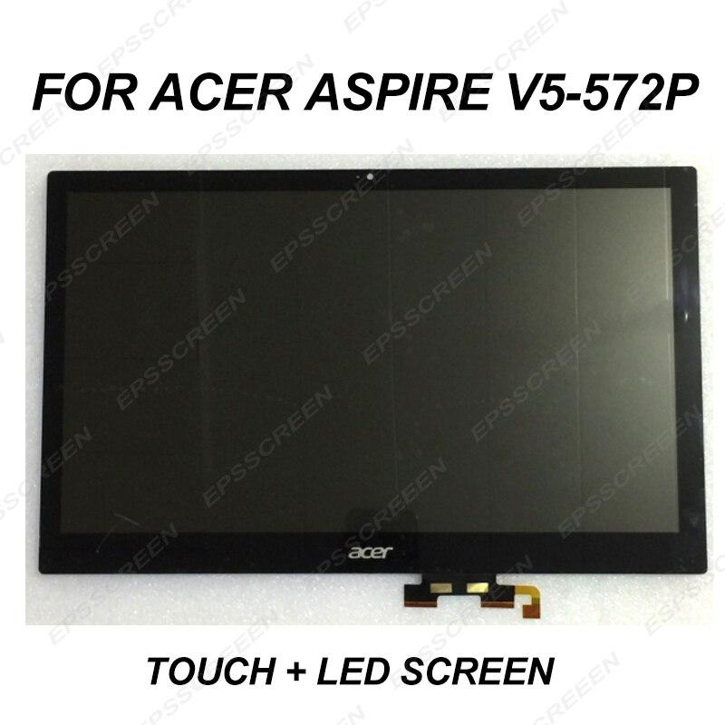 Reemplazar 15,6 pulgadas para Acer Aspire V5-572P serie V5-572P-4853 V5-572P-4429 4824 Digitalizador...