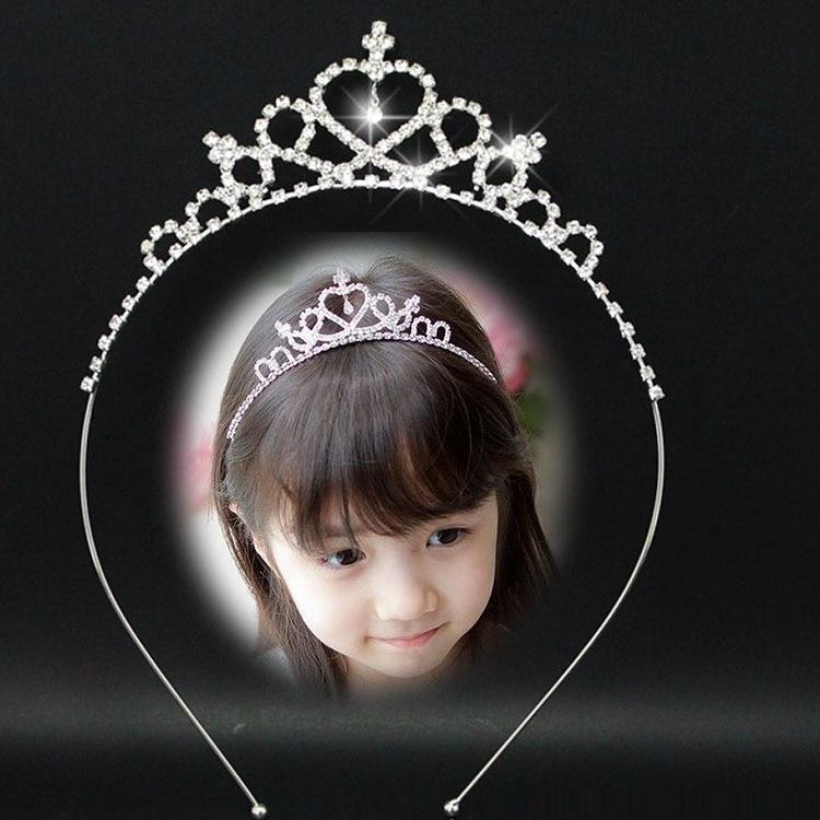 Nuevo estilo de cristal de la boda diadema chico chica nupcial de fiesta de la princesa corona accesorios de fiesta princesa corona diadema de joyas