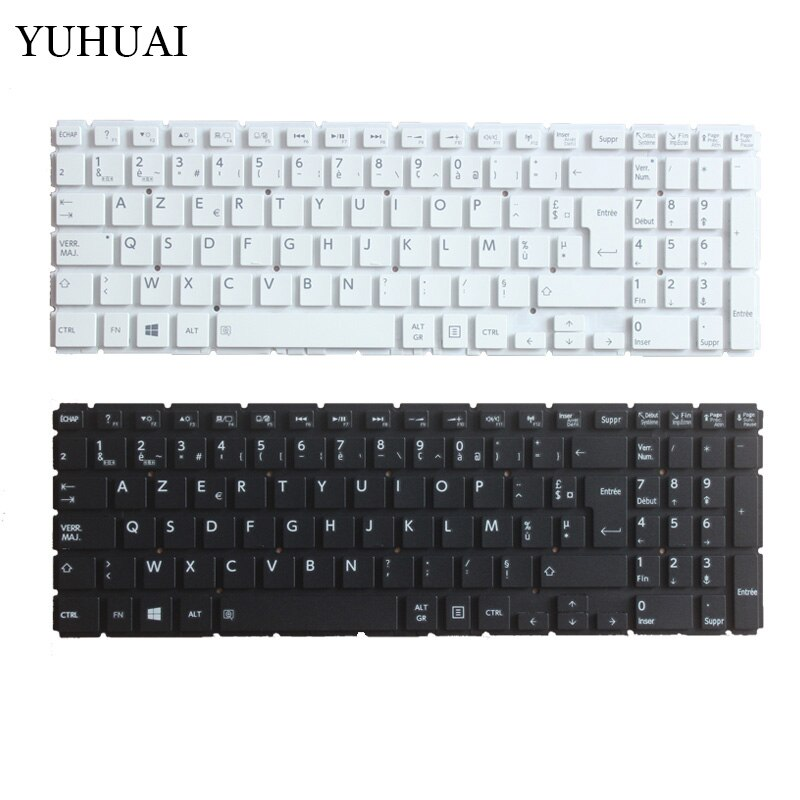 Nuevo teclado para Toshiba Satellite L50-B L55-B L55DT-B S50-B S55-B blanco francés FR teclado para ordenador portátil MP-13R86F0-9201
