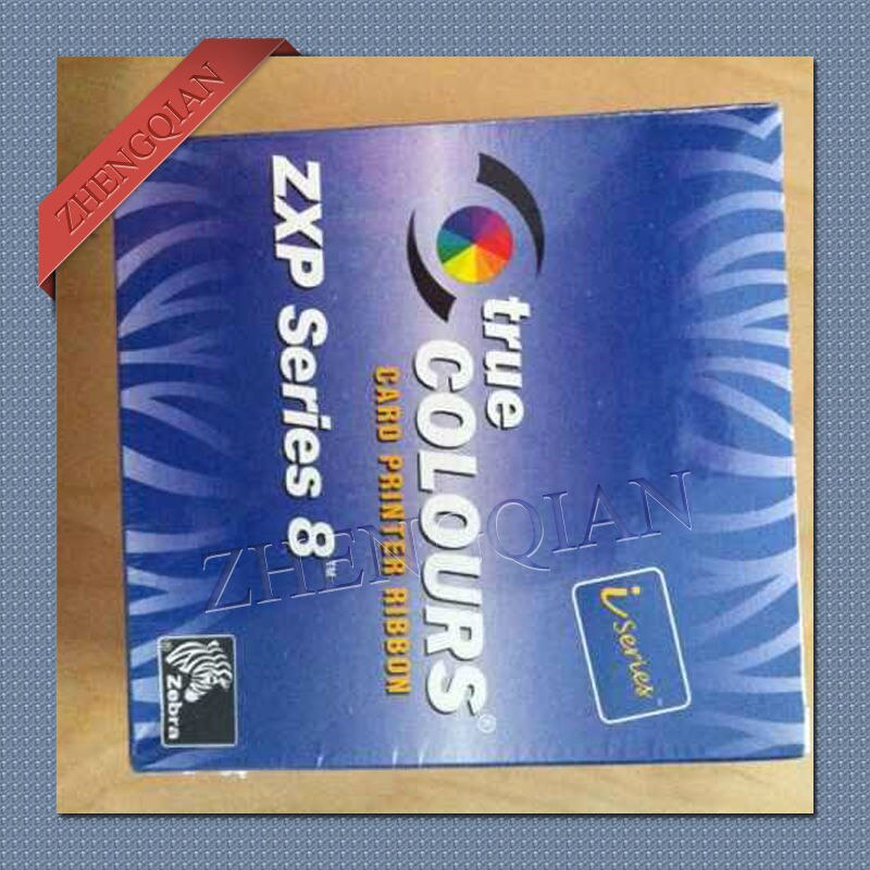 Zebra 800012-480 YMCKK full color printer ribbon type 500 image for zxp8 dual-sided id card printer