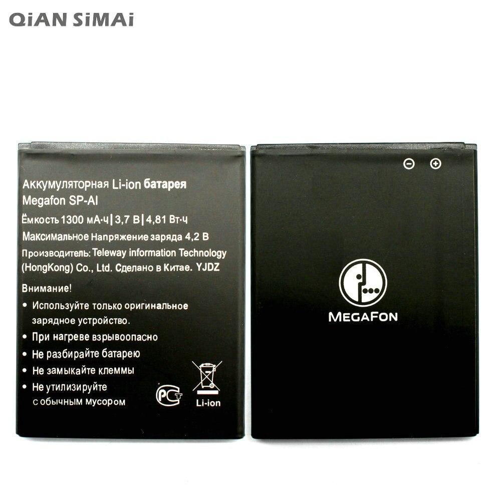Batería QiAN SiMAi 1 Uds 100% de alta calidad SP-AI 1300mAh para teléfono móvil MEGAFON SP-AI + código de seguimiento