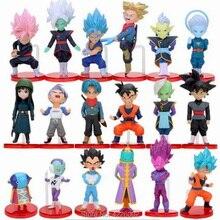 18 pièces Dragon Ball Super Saiyan Rose noir fils Goku bleu végéta Zeno frappé Jiren Figurines daction Jaco Cabba Zamasu Figurines danime