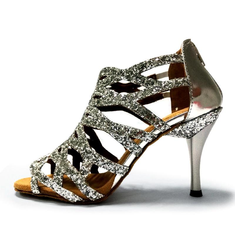 Best seller latin ballroom salsa modern performance shoes women latin dance shoes