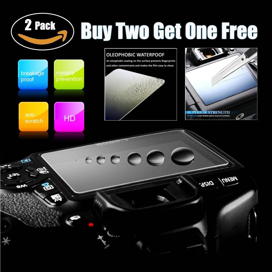 2 PCS HD Câmera 3 POLEGADAS Tela de Vidro Temperado Film Protector de Ecrã Para Nikon D7100 D7200 D750 D500 D5 D600 d610 D810 D800