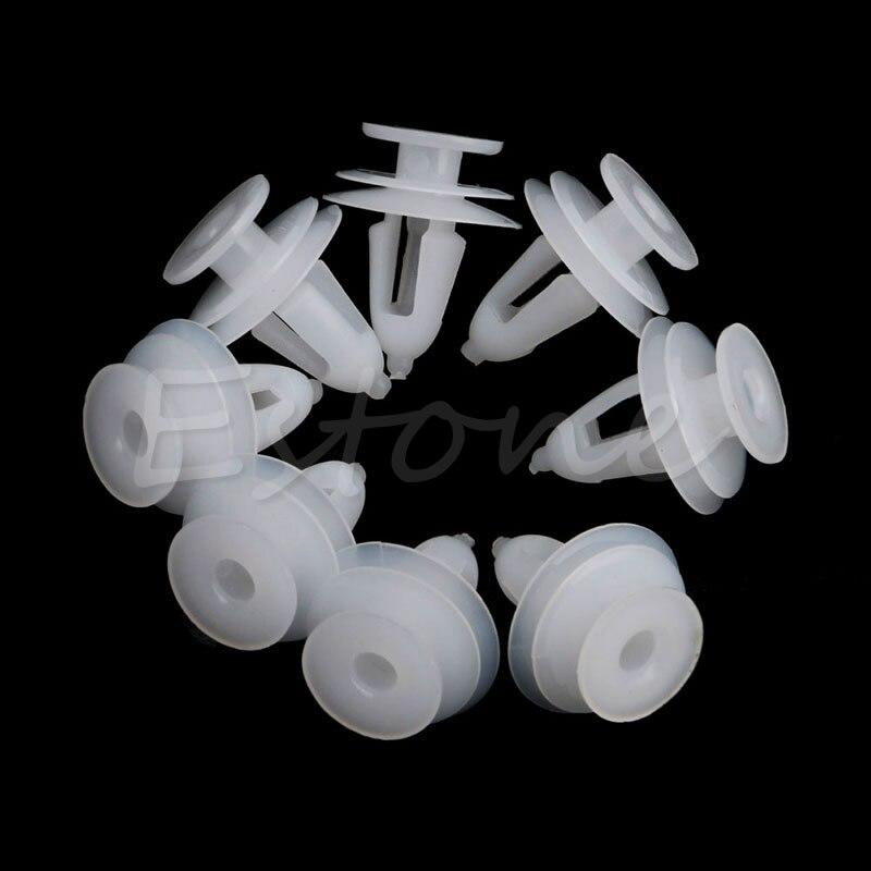 20Pcs White Plastic Rivets Retainer Push Clips 9mm Hole for Car Bumper Fender hot