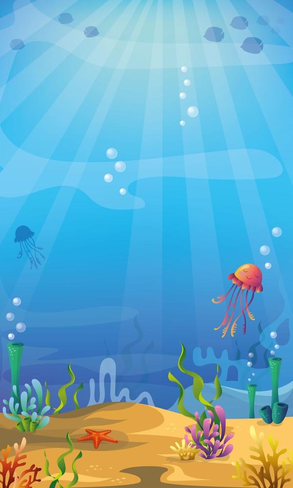 LIFE MAGIC BOX Fondo fotografía bajo el mar medusas Bambi papeles de pared personalizados