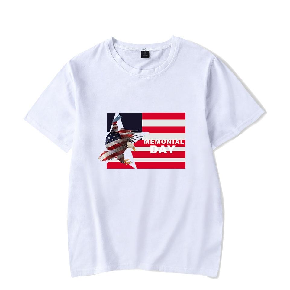 Aikooki gran venta día conmemorativo camiseta blanca para hombre/mujer moda Casual Hip Hop camiseta impresión día conmemorativo camiseta corta