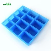 soap mold 12 cavity silicone square chocolate jelly pudding mould soap craft supplies
