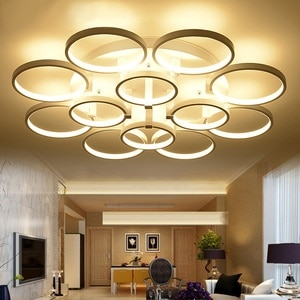 Minimalist ring modern led ceiling lights living room bedroom lights remote control dimmer  Ceiling lamp Lighting fixture